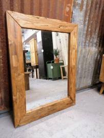Spiegel teakhout 90x70 cm