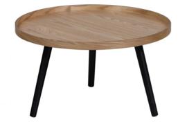 Bijzettafel Mesa L hout naturel 34xØ60 cm