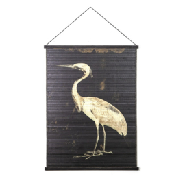 Wanddecoratie Miyagi bird - large