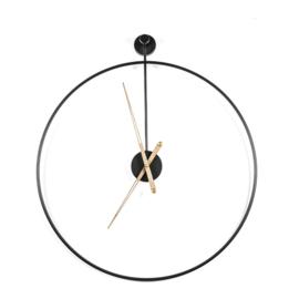 Wandklok Sundial large zwart