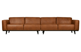 Bank 4-zits  Statement 372 cm eco leer cognac