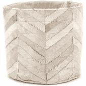 Basket Victory  wit leer  30x30 cm