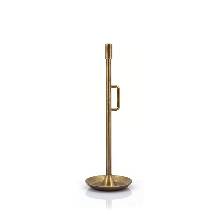Kaarsenstandaard Wick small , goud-bronskleurig