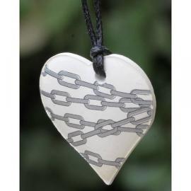 Ketting geparfumeerd in (cadeau) doosje hartje zilver