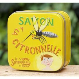 La Savonnerie de Nyons - Blikje citronellazeep 100 gram.