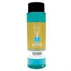 GOA Lin Blanc Geurstokjes Navulling  250 ml. & geurstokjes