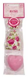 Le Chatelard 1802 - Geurzakje Rose mini & hart marseille zeepje mini