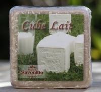 Maitre Savonitto - Blok zeep met decoratie (melk) 275 gram