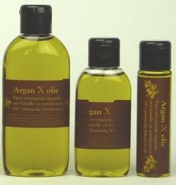 Argan X olie. Arganolie verrijkt met natuurlijke verzorgende stoffen vanaf 30 ml