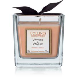 Collines de Provence - Geurkaars Vétiver & Vanille  200 gram.