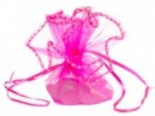 Organza buidelzakje Treklint Pink ( 10 stuks)