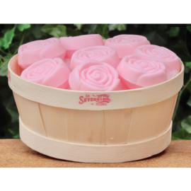 La Savonnerie de Nyons - Mandje met 23 zeepjes roosjes Rozen.