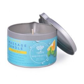 Treets - Massagekaars Calming (Lemon & Mint) 140 gram.