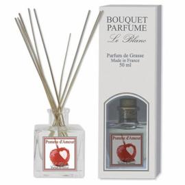 Le Blanc - Mini geurstokjes pomme d'amour 50 ml.
