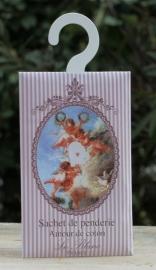 Le Blanc -Geurenvelop met kledinghaak engel (coton)