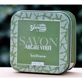 La Savonnerie de Nyons - Blikje zeep met groene klei 100 gram.