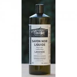 La Corvette - Biologische Savon noir lavendel in fles 1 liter.