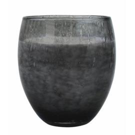 Les Lumières du Temps - Middelgrote geurkaars Perle in Grijs glas