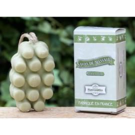 Maitre Savonitto - Massage zeep in doosje aan koord (geur de vert)