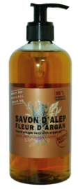Aleppo Soap Co -  Aleppo arganzeep exfoliant bio met pomppomp 500 ml.