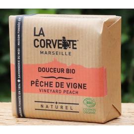 La Corvette - Biologische Marseillezeep  met Perzik 100 gram