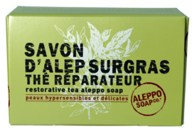 Aleppo Soap  Co - Aleppo zeep met thee in doosje 150 gram