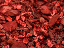 Potpourri Rood geparfumeerd vanaf 100 gram t/m kilo.