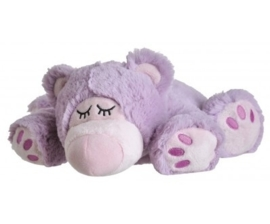 01147U  Warmies warmteknuffel sleepy Bear lila (magnetronknuffel)