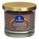 Gouda Geurglas Zandsteen / Cypress & pomegranate 90/100 mm