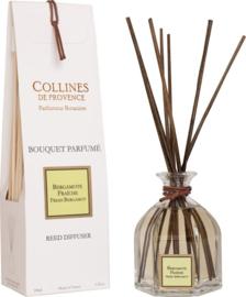 Collines de Provence - Geurstokjes Bergamot 100 ml.