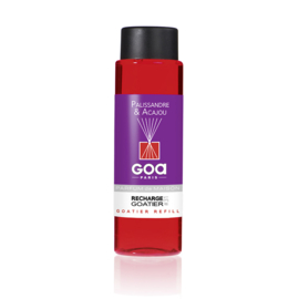GOA Palissandre & Acajou Geurstokjes Navulling  250 ml. & Geurstokjes