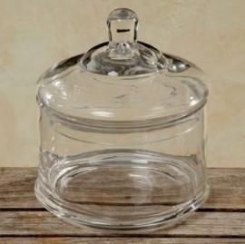 Glazen bewaarpot cylinder