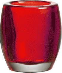Bolsius glazen theelichthouder Rood