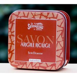La Savonnerie de Nyons - Blikje zeep met rode klei 100 gram.