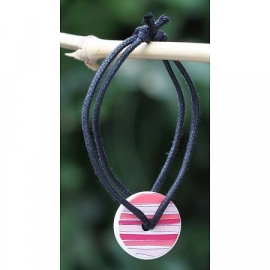 Armband geparfumeerd in (cadeau) doosje rond rood/rose gestreept