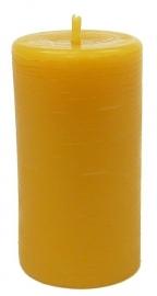 Candlewoods bijenwas kaars stomp 5 geel