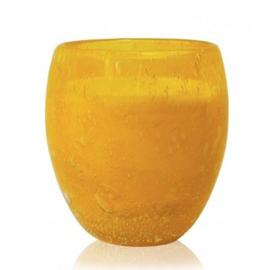 Les Lumières du Temps - Middelgrote geurkaars Perle in Geel glas