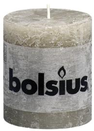 Bolsius Stomp Rustiek Kiezelgrijs 80/68