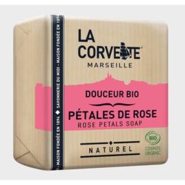 La Corvette - Biologische Marseillezeep met Rozen100 gram.
