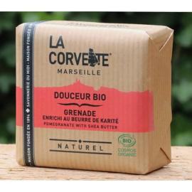 La Corvette - Biologische Marseillezeep  met Granaatappel 100 gram
