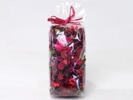 Gemengde potpourri rood 100 gram geparfumeerd