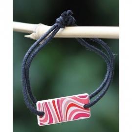 Armband om te parfumeren in (cadeau) doosje rechthoekig rose en rode golven