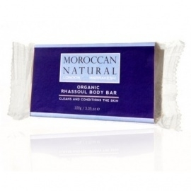 Moroccan Natural Rhassoul Body Bar 100 gram