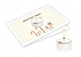 Candle card Gezellige dagen