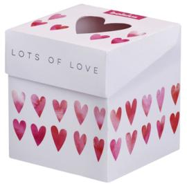 Bolsius Cadeauverpakking geurglas (geurkaars) Lots of Love
