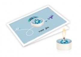 Candle card Voor Jou wenskaart