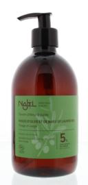 Najel - Najel BIO vloeibare zeep pompfles Laurier 5% 500 ml.