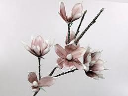 Foam Magnolia Wit/Lila, Lengte 105 cm  12 stuks