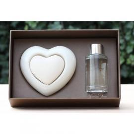 Les Lumières du Temps - Geparfumeerd hart in cadeaudoos (rozen)