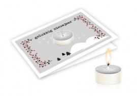 Candle card Gelukkig nieuwjaar
